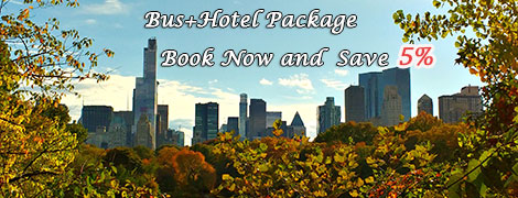 Bus and hotel package deals save 5%